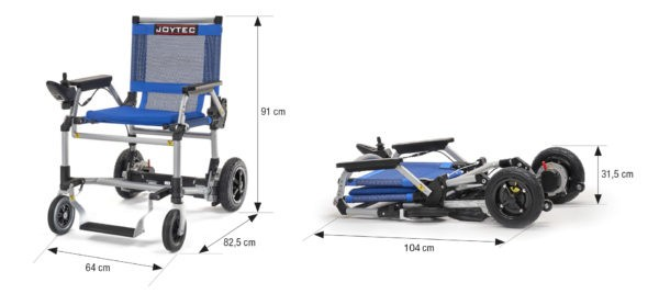 medidas silla de ruedas eléctrica Joytec