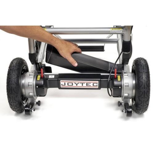 Colocación batería silla de ruedas eléctrica Joytec