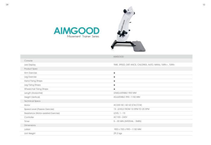 Especificaciones técnicas Aimgood Movement Trainer