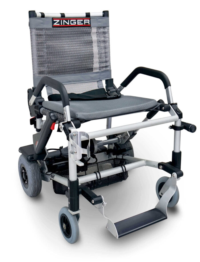 silla de ruedas electrica zinger gris