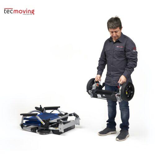 Silla de ruedas eléctrica plegable Joytec Pro en dos partes