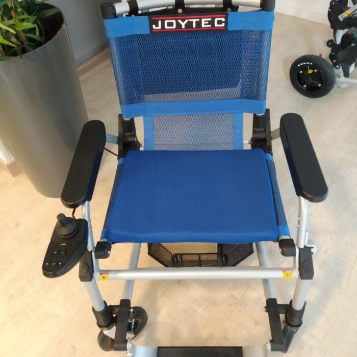 Silla de ruedas eléctrica plegable Joytec azul