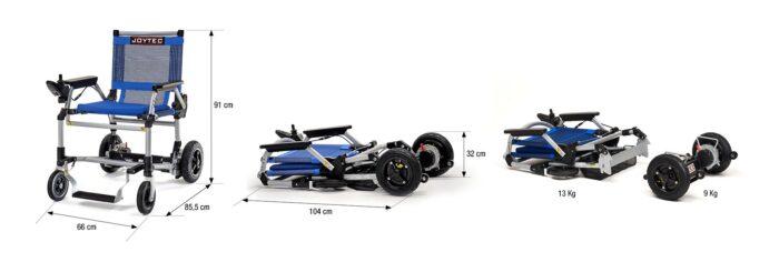 medidas silla de ruedas eléctrica Joytec Pro