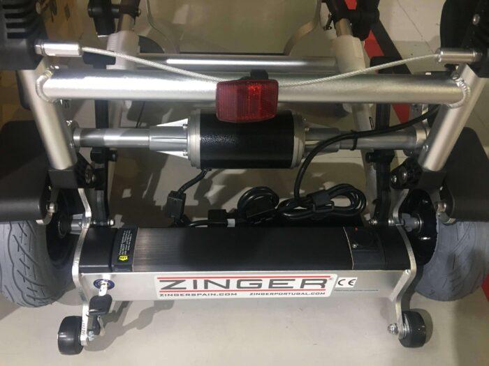 silla de ruedas electrica zinger negra de exposición
