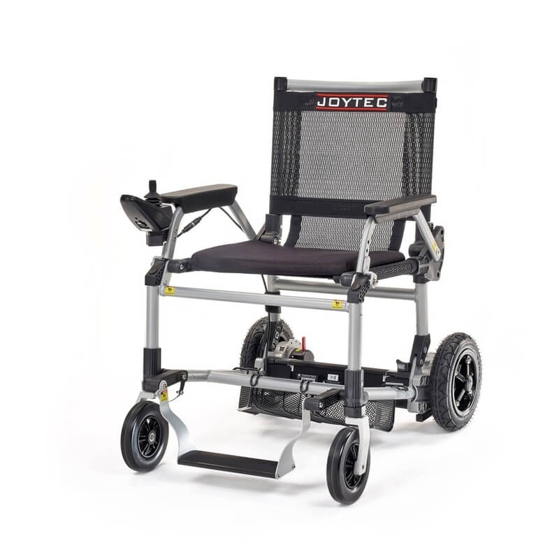 Silla de ruedas eléctrica plegable Joytec negra